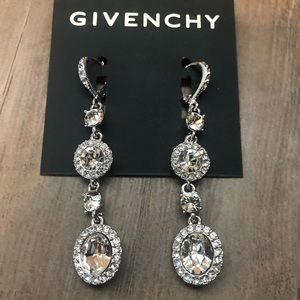 New Givenchy crystal drop earrings